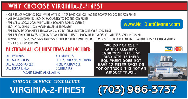 Coupons - Air Duct and Carpet Cleaning Northern VA