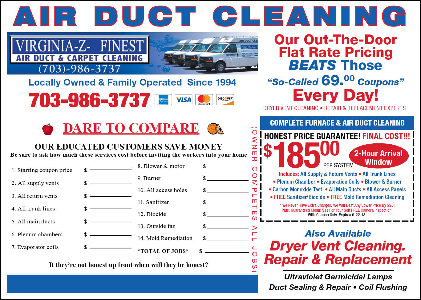 Coupons Air Duct And Carpet Cleaning Northern Va